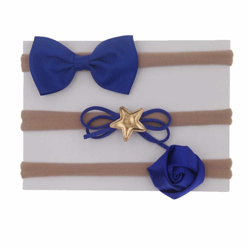 3 Pcs เด็กทารกเด็กหญิง Bow Knot Hairband อุปกรณ์เสริมผม Barrettes เด็ก Turbans Accessoire เด็ก Headdress