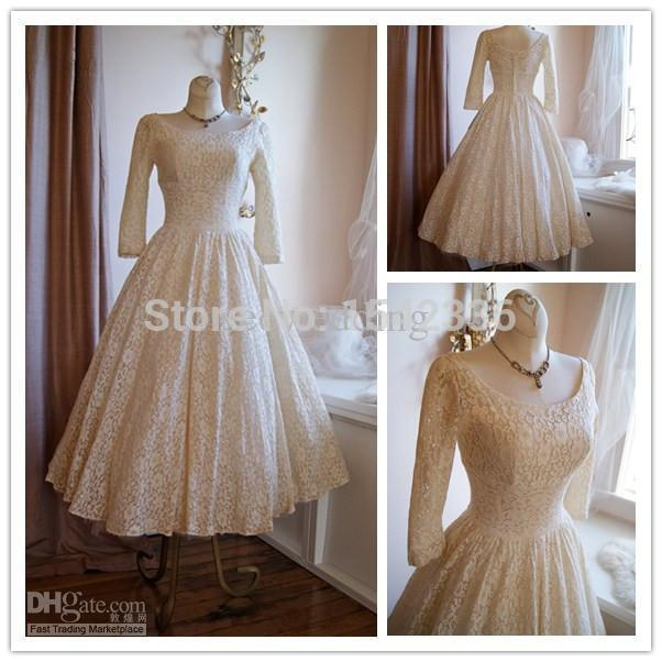 015 Real Fashionable Vintage 50s Wedding Dresses Poland Style Scoop ...