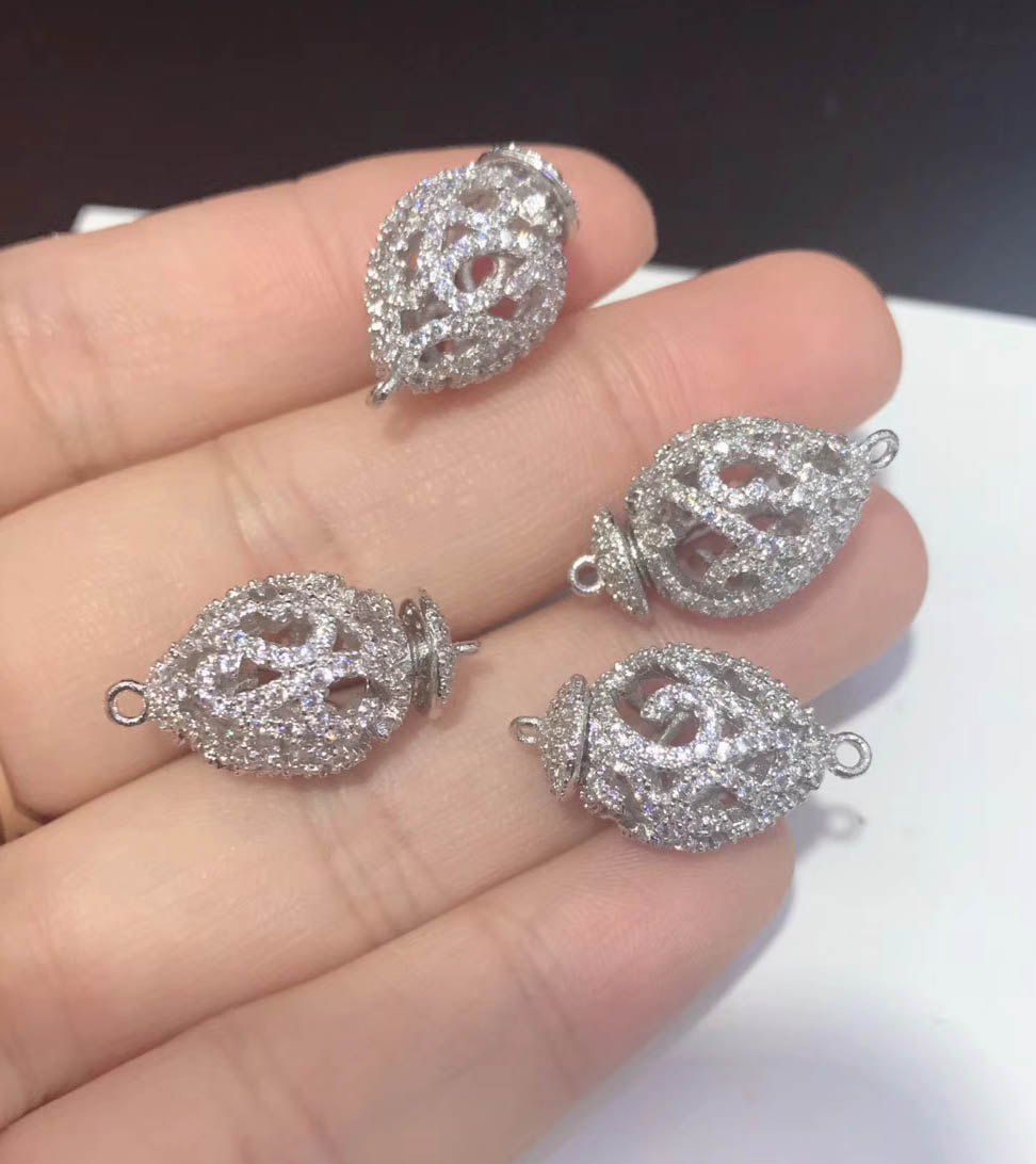 1210pcs Jewelry Clasps Closure Micro Pave CZ Lobster Claw Clasp with Jump Ring CZ Lobster Clasps SALES 15mm19mm24mm28mm|CL300