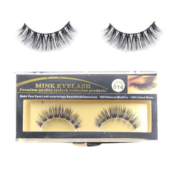 1 Pair Natural Soft 100% Real Mink Handmade  Luxurious Thick Fake EyeLashes False Eyelashes Makeup Tools