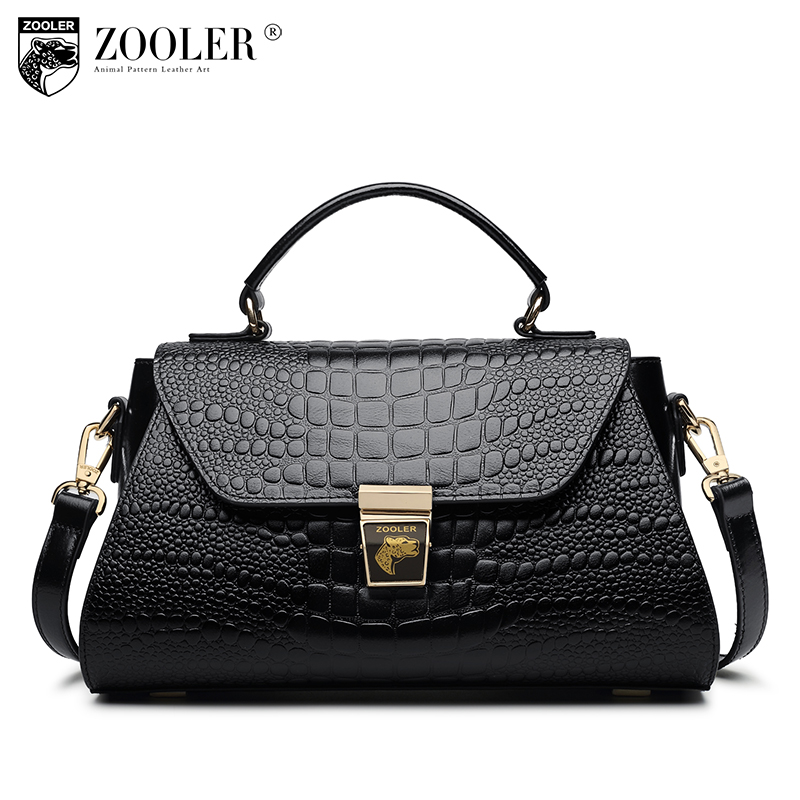 ZOOLER Fashion Genuine Leather Bags Handbags Women Famous Brands Shoulder Bag Woman Crocodile Handbag Messenger Bag Sac A Main joyir fashion genuine leather women handbag luxury famous brands shoulder bag tote bag ladies bolsas femininas sac a main 2017