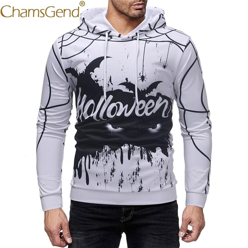 Drop Shipping Men Halloween Sweatshirts Autumn Winter Pullover Hooded Coat Man Hoodies 80925