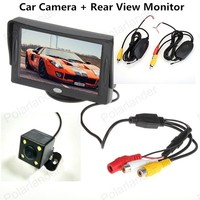 4 3 Inch TFT LCD Car Reaview Monitor With Rotatable Screen For Parking Reversing 4
