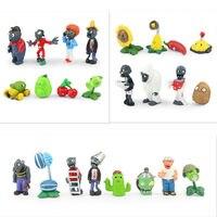 PVZ Plants vs Zombies Figures Plants and Zombies PVC Action Figures Collection Model Toys Dolls 24pcs/lot