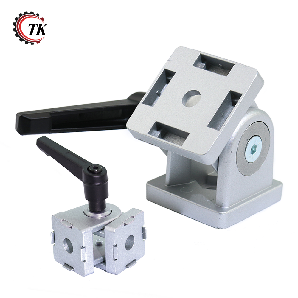 Die cast zinc alloy Flexible Pivot Joint Connector with Handle corner hinge for Aluminum Extrusion Profile 30/40/45s-in Corner Brackets from Home Improvement