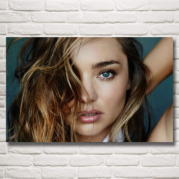 FOOCAME Miranda Kerr Girl Super Model Art Silk Posters and Prints Painting Home Decor Wall Pictures For Living Room 22x35 Inches
