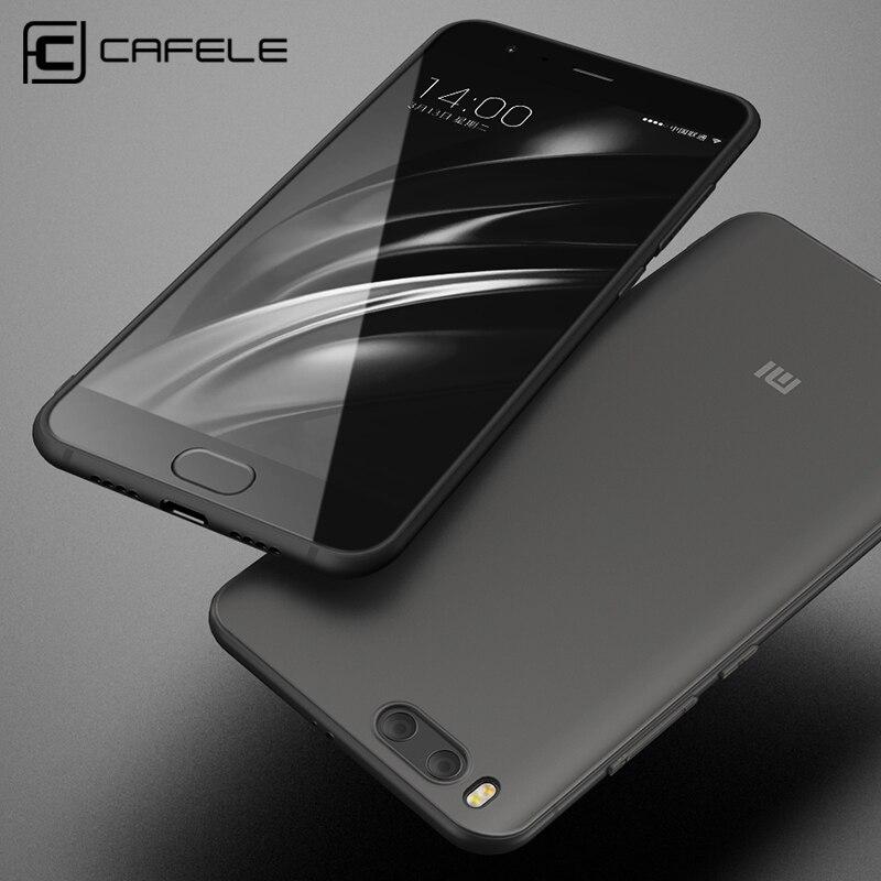 Cafele мягкий чехол TPU для Xiaomi MI6 случаях сзади защитить кожу ультра тонкий Анти-отпечатков пальцев микро-Скраб чехол телефона для Xiaomi 6