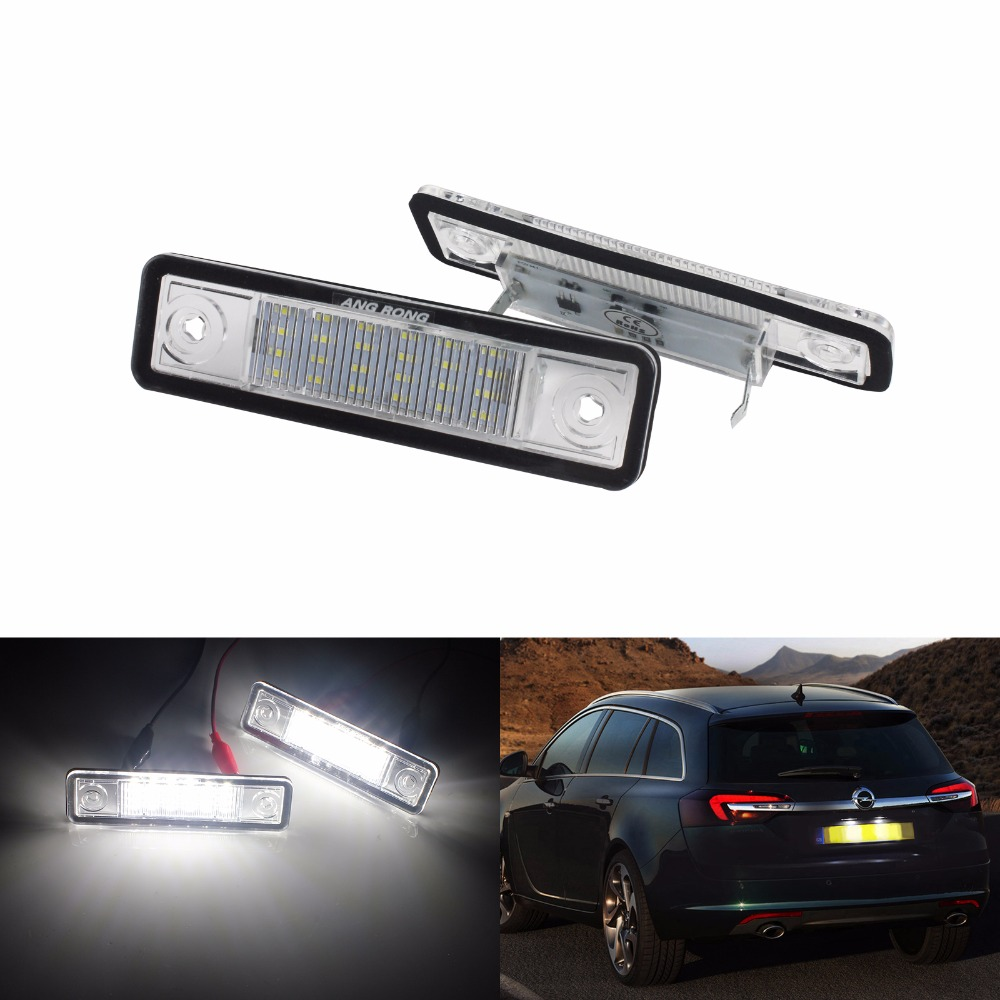 ANGRONG For Vauxhall Opel LED License Number Plate Light Astra F G Corsa Omega Signum Vectra CA233 in Signal Lamp from Automobiles Motorcycles