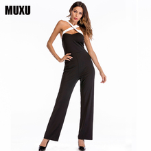 hot deal buy muxu black jumpsuit body sexy jumpsuits for women europe and the united states jumpsuits body backless bodysuit womens rompers
