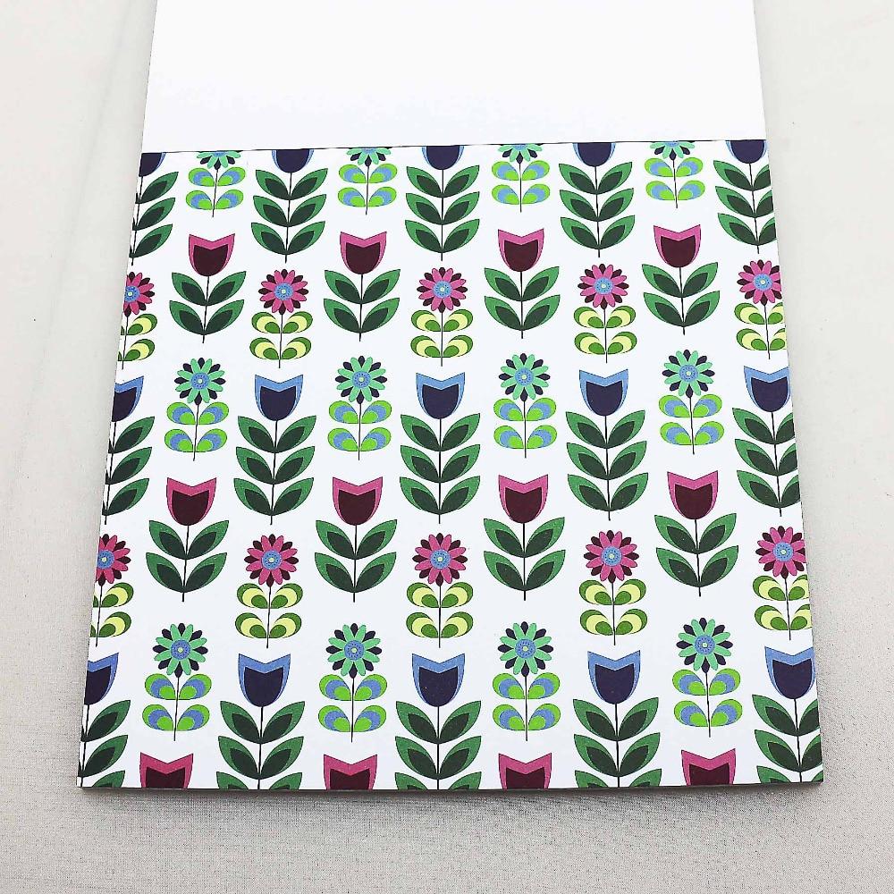 Scrapbook paper aliexpress - Colorful Scrapbooking Paper Pack Set Cute Tree Flower Printing 160gsm Paper Craft Diy Decorative Background Paper
