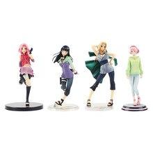 Uzumaki Shippuden-figuras de acción de Anime, modelo de juguetes de belleza de Anime, shunade, Hinata, Hyuga, Haruno, Sakura, Uchiha