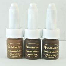3 ピース濃いブラウンコーヒータトゥーインクゴールデンローズパーマネントメイクインク顔料眉毛リップタトゥーと 12 色選択する