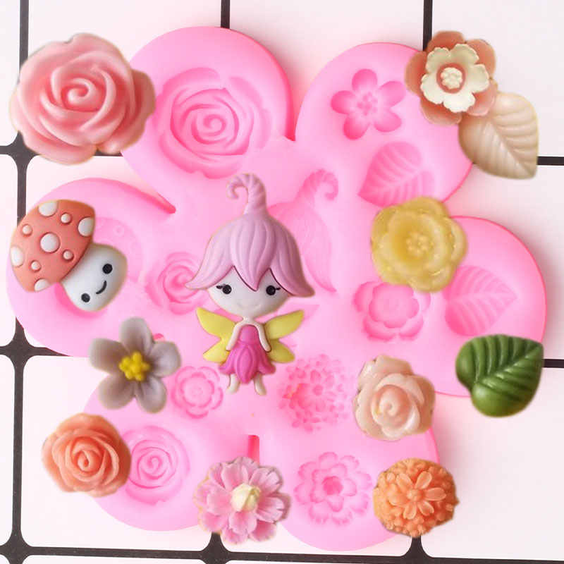 Angel Silicone Mold Fondant Chocolate Candy Polymer Clay Craft Fairy Garden Miniature Ornament Cake Tool Cupcake Topper Decorations