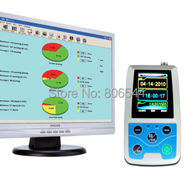 Free shipping Ambulatory Blood Pressure Monitor , Blood Pressure Monitor, Blood Pressure Holter, ABPM50, FDA & CE approved free 6 cuffs contec manufacturer shipping abpm50 24 hours ambulatory automatic blood pressure monitor nibp ce approved