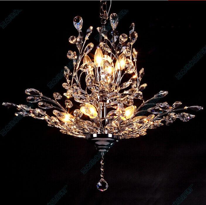 Modern Cm Candles K Crystal Chandelier Tree Leaf Crystal Abajur - Chandelier leaves crystals