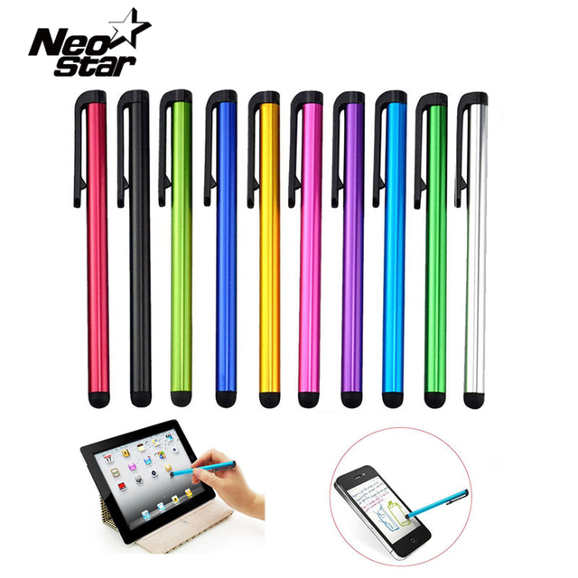 10 pçs/lote Capacitive Touch Screen Stylus Pen Para IPad Air Mini 2 3 4 Para IPhone 5 4S 6 7 samsung Tablet PC Universal Telefone Inteligente