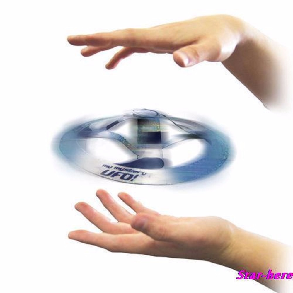 Nice 1pc Kids Attractive Mystery UFO Floating Flying Disk Cool Magic Trick Saucer Toy