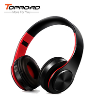 TOPROAD Foldable Bluetooth Headphone Shock Stereo Sound Wireless Headset Support FM Radio TF Line In Handsfree