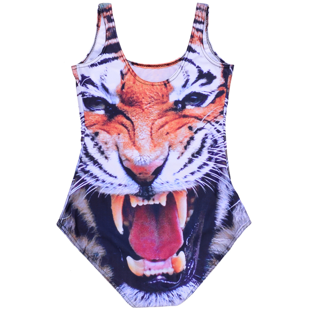 0fed9a3841af36 Wholesale SEXY Womens European Skinny Tiger Swimsuit One Piece Swimwear  Digital Print Backless Wetsuit Wholesale Sst 1031-in Body Suits from Sports  ...