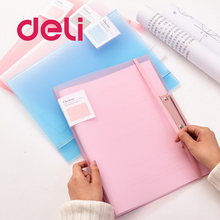 Deli 2PCS Filing Production Folder student Test Paper Multi-Function Storage paper A3/A4 Report Document Contract File