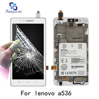 Reepanel For Lenovo A536 100 Tested Original LCD Display With Touch Screen Digitizer Assembly With Frame