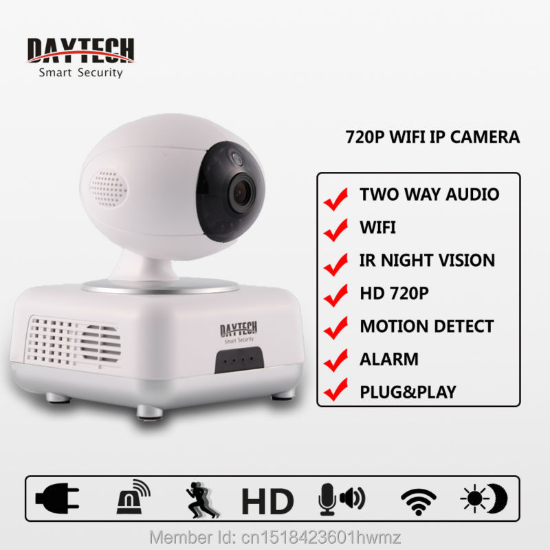 Daytech 720P Wifi IP Camera Night Vision H 264 Wireless Camera P2P IR Security Surveillance CCTV