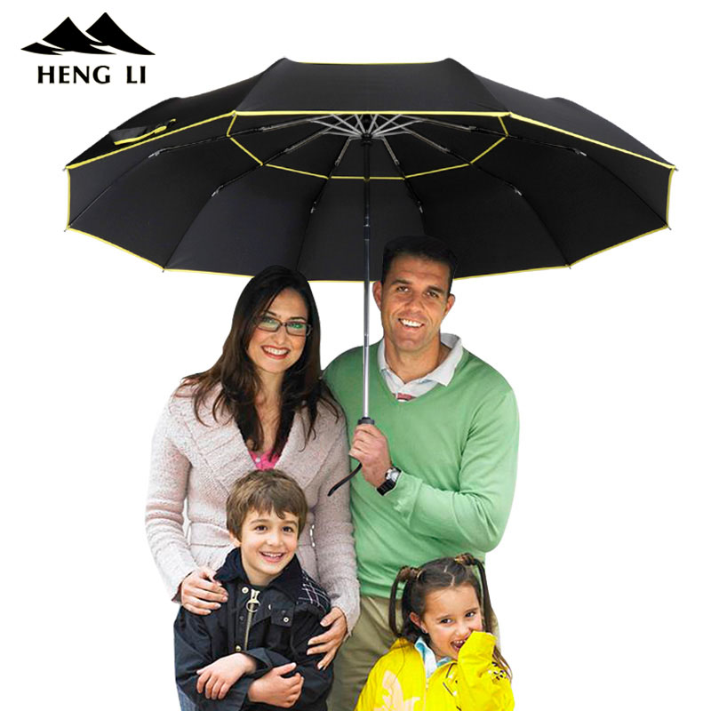 Double <font><b>Golf</b></font> <font><b>Umbrella</b></font> Rain Women <font><b>Windproof</b></font> 3Floding Large Male Women <font><b>Umbrella</b></font> fully-Automatic Business <font><b>Umbrella</b></font> For Men Paraguas image