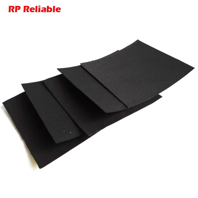 "RP Reliable --5x  0.5mm Thick, 100mmx100mm (4"") Single Adhesive Black EVA Foam Gasket , Anti Shock, Sealing, Dustproof"