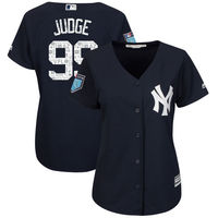 Women S New York Yankees Aaron Judge Majestic 2018 Spring Training Player Jersey