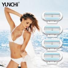 Yunchi Female Safe Razor Blades Replaceable Razor Blade Heads for Women Razor Shaver Hair Removal Girl Venus Shaving Cassetes