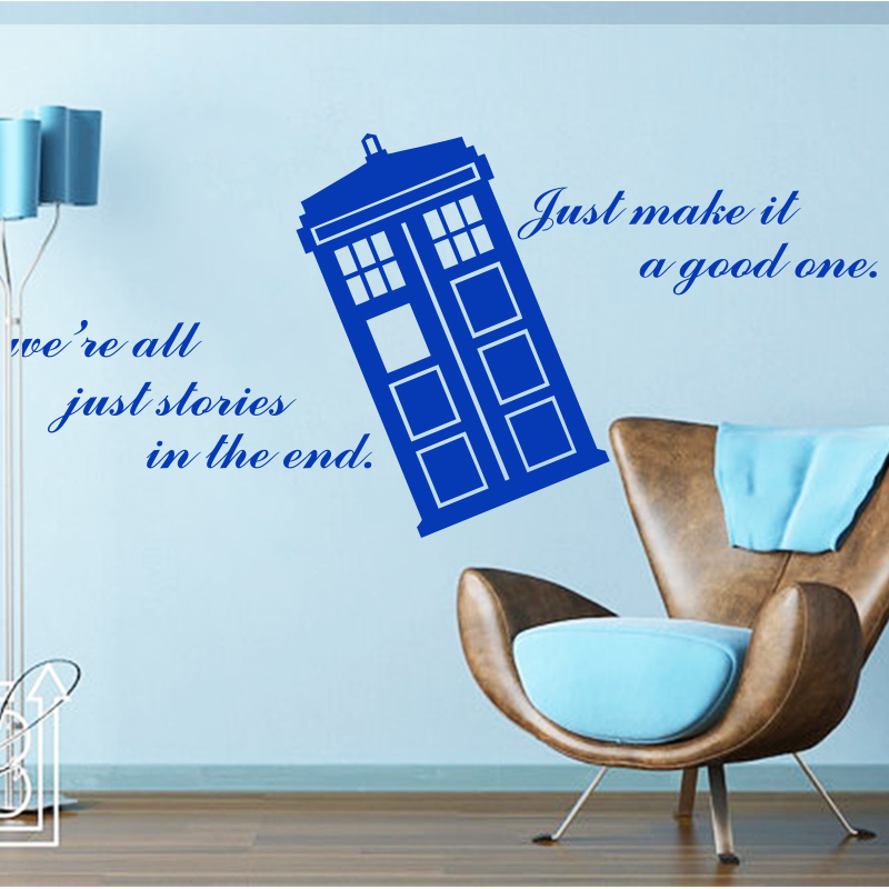 Wonderful Aliexpress.com : Buy Art Design Home Decoration Cheap Vinyl Popular Doctor  Who Wall Sticker Removable House Decor Famous Cartoon Police Box Decals  From ... Part 2
