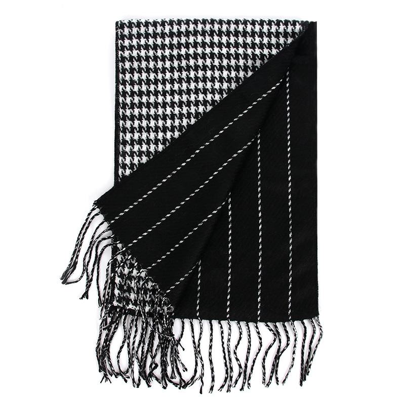 Houndstooth Cashmere Scarf luxury Brand 2018 Classic Pashmina Scarf Women Tassels Scarves Wraps Autumn Winter Men Blanket Shawls