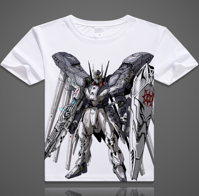 ANIME All sizes S-5XL Mobile Suit Gundam:Char/'s Counterattack V2 T Shirt WHITE