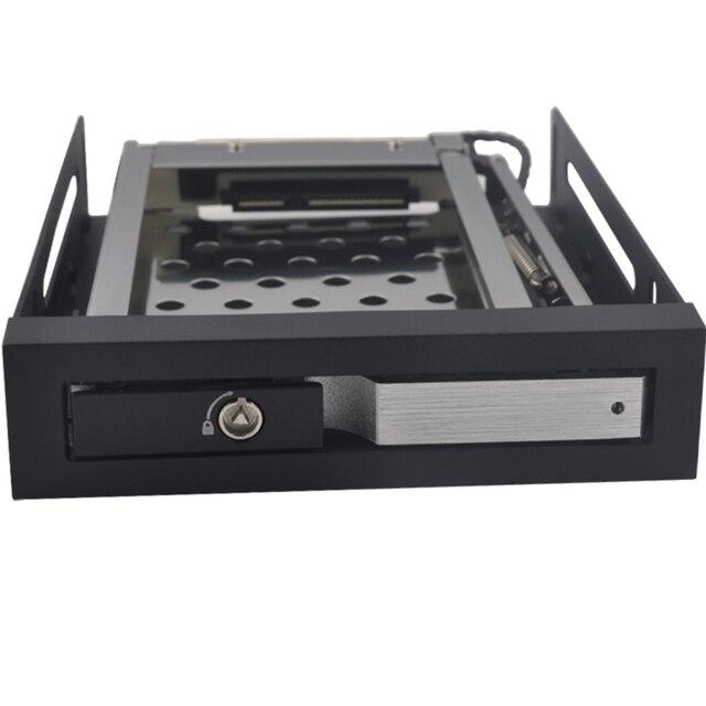 "SATA Aluminum 2.5"" hard drive case internal HDD Tray caddy with hot swap"