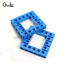 5Pcs/Lot Technic Parts Brick 5 x Open Center Beam Frame Square Building Blocks DIY Toys Compatible with 32324 32531