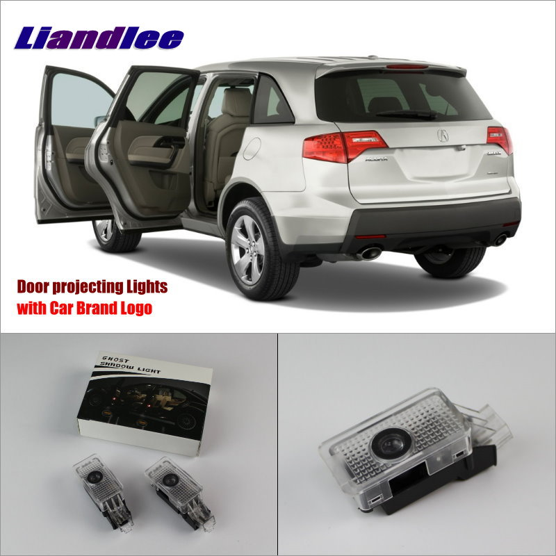 Liandlee Car Door Ghost Shadow Lights For Acura MDX / Acura ZDX Courtesy Doors Lamp / Brand Logo LED Projector Welcome Light
