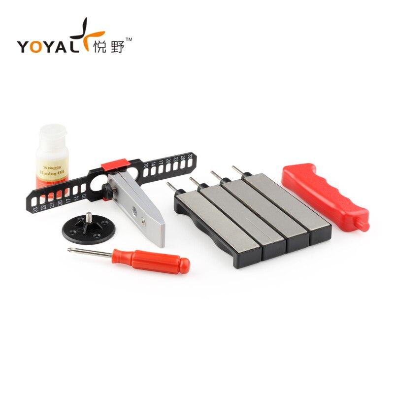 YOYAL Multifonction Professionnel En Plein Air Couteau Aiguiseur Système apex bord pro Sharpener Outils amolador de facas avec 4 pierres