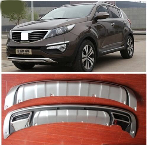 2011 2012-2014 For KIA Sportager High quality plastic ABS Chrome Front+Rear bumper cover trim car-styling accessories hot sale abs chromed front behind fog lamp cover 2pcs set car accessories for volkswagen vw tiguan 2010 2011 2012 2013