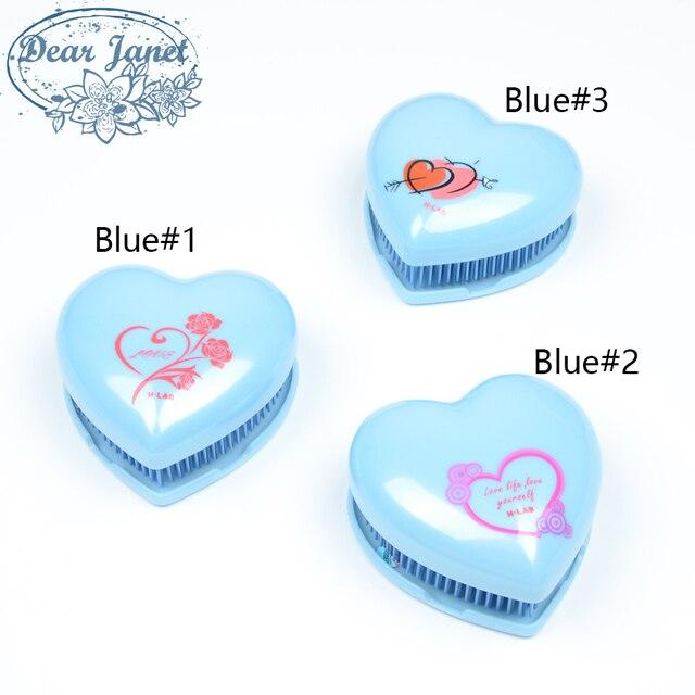 1pc detangle hair brush reduce hair loss styling tools detangling Cute Heart Shape hair comb portable velvet bag + gift box