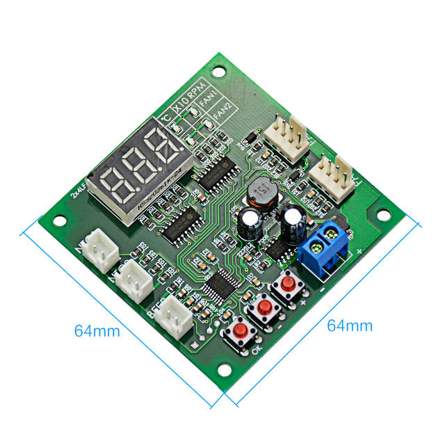 Aiyima DC 12 24V 48V 2 Way Independent 4 Wire PWM