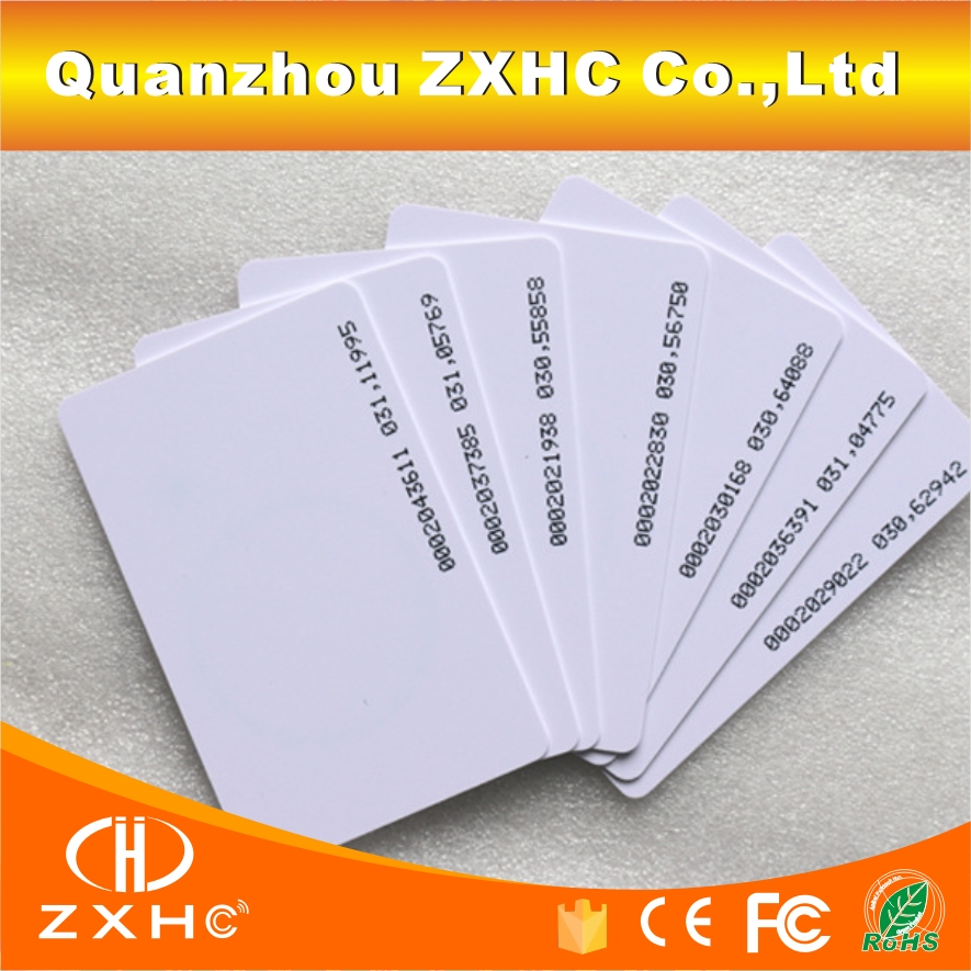 (10PCS) RFID 125khz Read-only TK4100(EM4100 Compatible)  ISO Smart Cards In Access Control