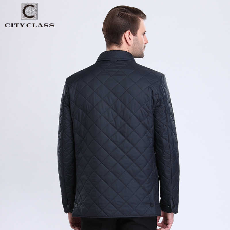 CITY CLASS 2018 New Autumn Mens Quilted Jacket Lining Fleece Chaqueta Hombre Business Casual Fashion Coats For Male 6xl 15307