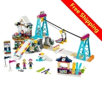 Lepin Friends 632pcs Building Blocks Snow Resrot Ski Lift Girls Kids Bricks Compatible With Legoingly 41324