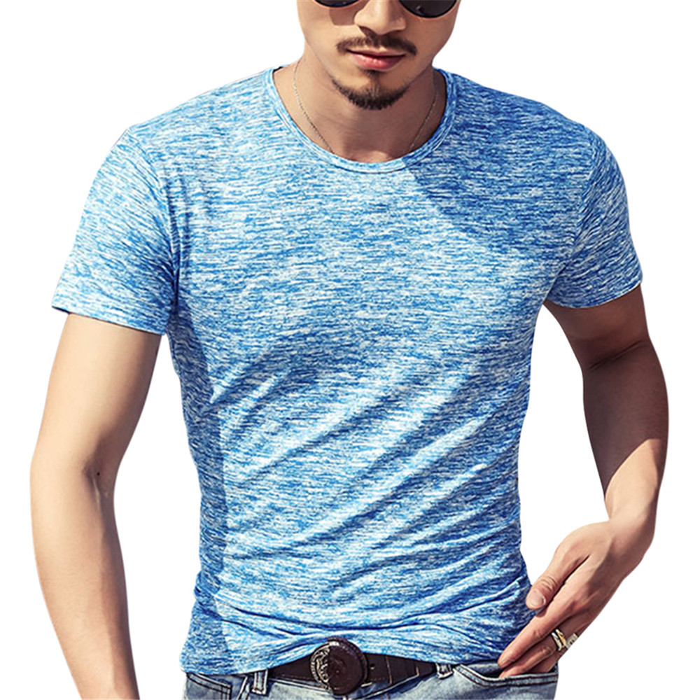 2018 New Trendy T Shirt Men Elastic O-neck Cotton Comfortable Top Tee Man Tshirt Plus Size Casual Short Sleeve T-Shirt Homme