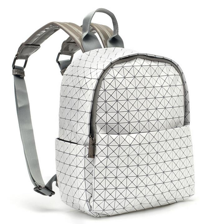2019 women Casual fold backpack leather waterproof school bags mochilas escolar bolsa feminina sac a dos