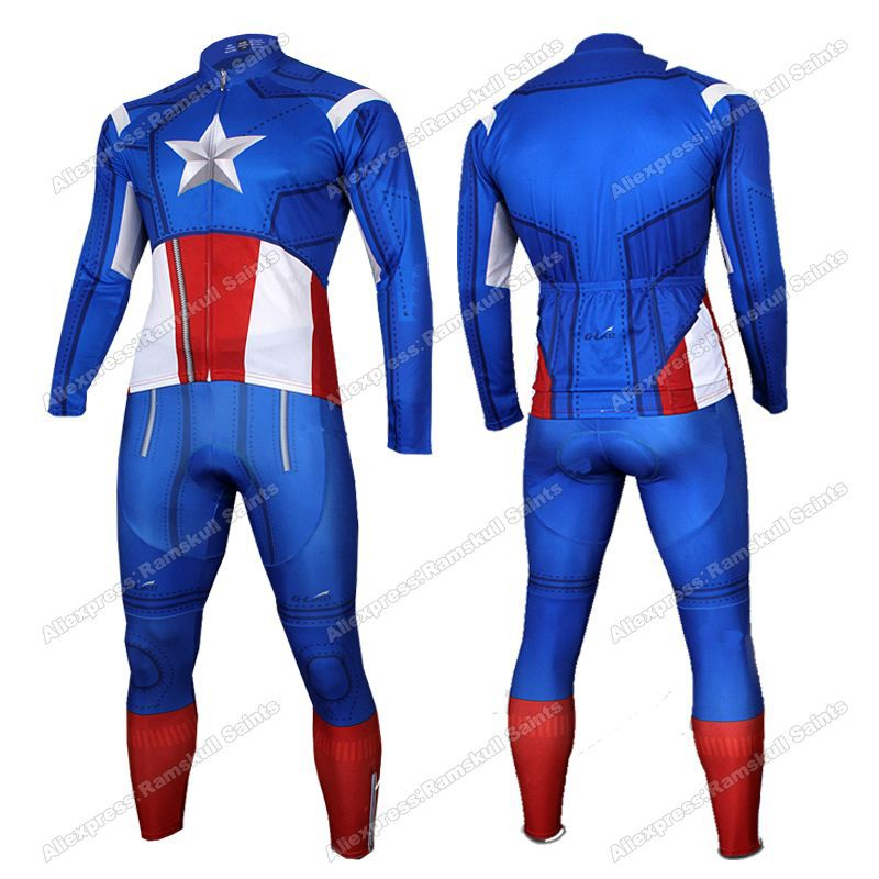 Superhero Captain America Superman Black Red Blue Spiderman Long