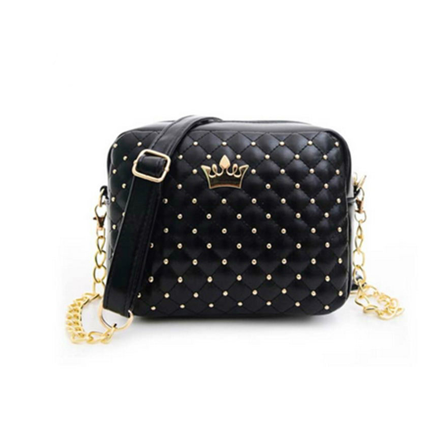 New Rivet Chain Shoulder Bag Handbags High Quality Design Shoulder Bag Female Hot Ladies Handbag PU Leather Crossbody #14Sh31/5