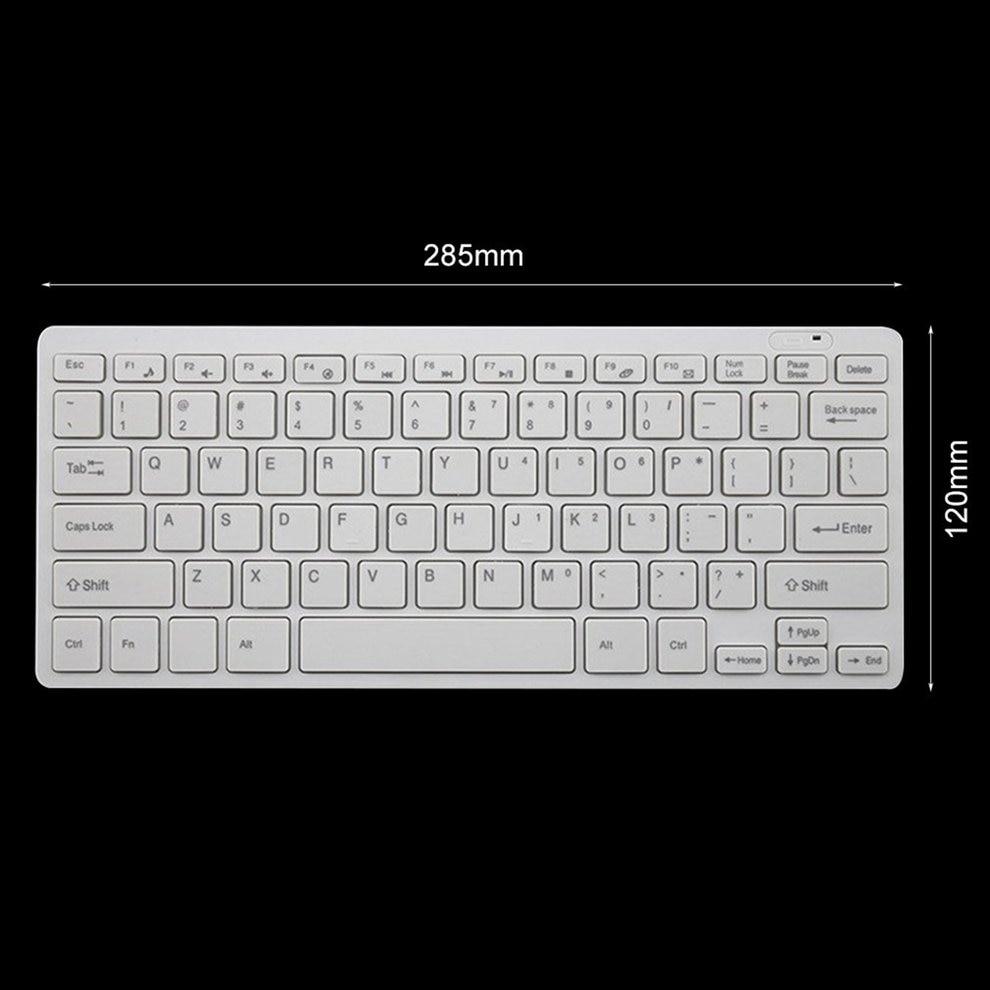 10 pièces blanc Mini 03 2.4G DPI clavier sans fil et souris optique Combo pour bureau