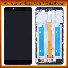 ЖК-дисплей Дисплей + Сенсорный экран планшета Ассамблеи для Huawei Mate 7 mate7 MT7 MT7-TL10 MT7-TL00 MT7-UL00 с/без рамки
