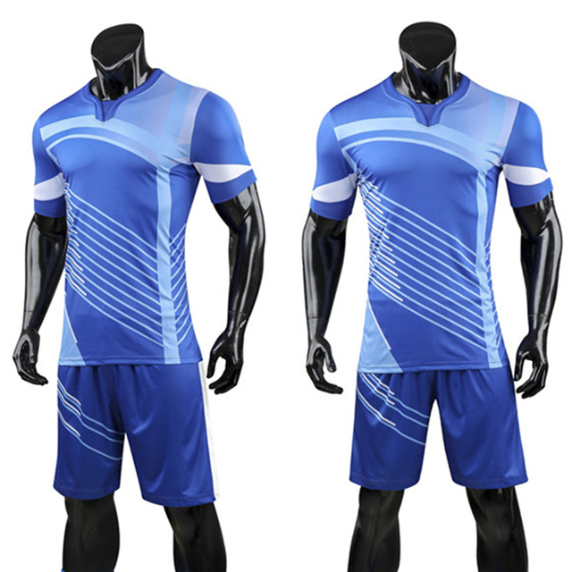 5592a9872 High Quality Men Soccer Jerseys Set Survetement Football Team Training  Uniforms Suits Pocket Soccer Jerseys Set Sports Kit Print